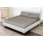 Royal Comfort 1200 Thread Count Double Warm Grey Luxurious Egyptian sheet set - RRP: $249.00 - Brand New