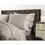 Royal Comfort 1000 Thread Count Double Warm Grey Quilt Cover Set - RRP $299 - Brand New