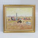 Old Traction Engine and Out From the Curry, Oil on board - Lot of 2