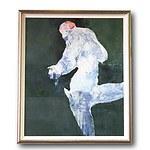 Robert Simpson (Australian 1955-)  Running Batsman Acrylic on Board