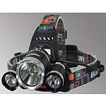 New Design CREE 3000 Lumen Waterproof LED Headlamp & Including Batteries - Brand New
