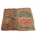 Pair of Vintage Hessian Cloth Potato Bags