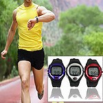 Exercise Pulse Heart Rate Monitor Calorie Counter Sports Watch - Silver - With Warranty