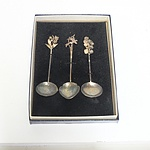 Sargisons Hand Wrought Sterling Silver Wild Flower Spoons