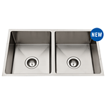 New Everhard Squareline Double Bowl Stainless Steel - RRP=$234.00