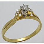 18ct Gold Brilliant-cut Diamond Ring