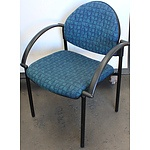 Blue and Green Fabric Office Chair - Lot of Six