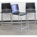 Freedom Black Vinyl Bar Stools - Lot of 3