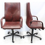 Burgtec Leather Highback Executive Chairs - Lot of Two
