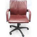 Burgtec Leather Medium Back Executive Chair