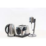 Set of 3 Stainless Steel Kitchen Appliances