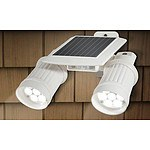 Solar Powered White Sensor Light - RRP $129.95 - Brand New