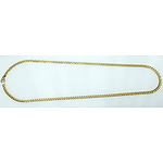 Solid 18K Gold 63cm Curb Link Chain