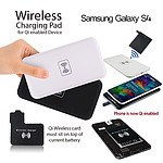 QI Wireless Charger Charging Pad and Receiver for Samsung Galaxy S4 i9500 - with Warranty
