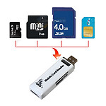 USB All-in-One Card Reader with MicroSD and 3G SIM Support - With Warranty