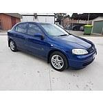 5/2003 Holden Astra CITY TS 5d Hatchback Blue 1.8L