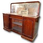 English Victorian Mahogany Mirror Back Sideboard Circa 1880