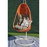 New Coco N3 Hanging Chair - Orange - RRP=$849.00
