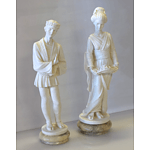 Pair of Resin Statues