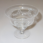 Four Finely Etched Stuart Crystal Dessert Coupes