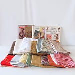 Large Collection of Fabrics, Designs, Parts, Dresses and Accessories for Making Dolls