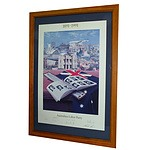 ALP Lithograph '1891-1991 Australian Labour Party' Signed by Whitlam, Hawke, Carr, Haydon, Wran, Hills and Unsworth
