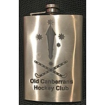 One of a kind engraved whiskey flask
