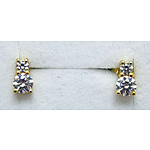 Gold-plated Sterling Silver CZ Earrings