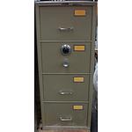 Chubb B Class Four Drawer Filing Cabinet