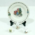 Wedgwood Beatrix Potter Peter Rabbit Plate and Three Miniatures