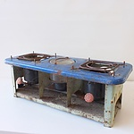 Vintage Butterfly Double Burner Stove