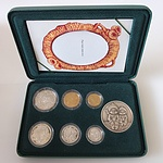 1997 Proof Australian Baby Coin Set with Gumnut Baby Medallion