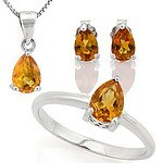 Sterling Silver Golden Citrine Set
