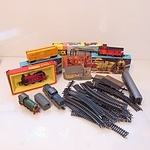 Collection of Vintage Railways Toys, Including Triang Hornby Maroon LMS