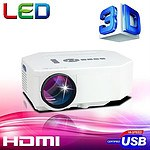 LED Home Theatre Projector 1080P Full HD HDMI & Supports Red and Blue 3D - RRP $399 - Brand New