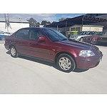 6/1996 Honda Civic GLi  4d Sedan Maroon 1.6L
