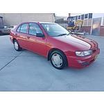 7/1997 Nissan Pulsar LX  4d Sedan Red 1.6L