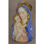 Italian Madonna and Child Ceramic Wall Plaque