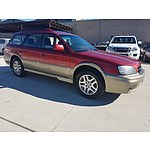 6/2001 Subaru Outback  MY01 4d Wagon Red 2.5L
