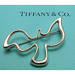TIFFANY Sterling Silver Dove Brooch