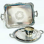 Four Vintage Silver Plated Wares Including Tray Presented to DB Copland 1919