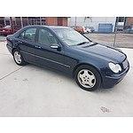 11/2000 Mercedes-Benz C200 Kompressor Elegance W203 4d Sedan Blue 2.0L