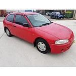 10/1998 Mitsubishi Mirage  CE 3d Hatchback Red 1.5L