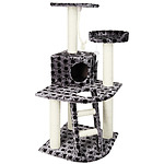 Cat Scratching Poles Post Furniture Tree House Condo Black Grey - Brand New
