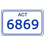 ACT Number Plate  6869