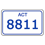 ACT Number Plate  8811