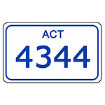 ACT Number Plate  4344