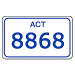 ACT Number Plate  8868