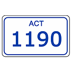 ACT Number Plate  1190