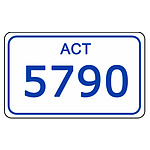 ACT Number Plate  5790